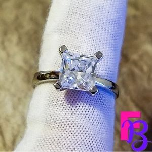 🔥🔥🔥 1 CT Princess Cut Engagement Ring